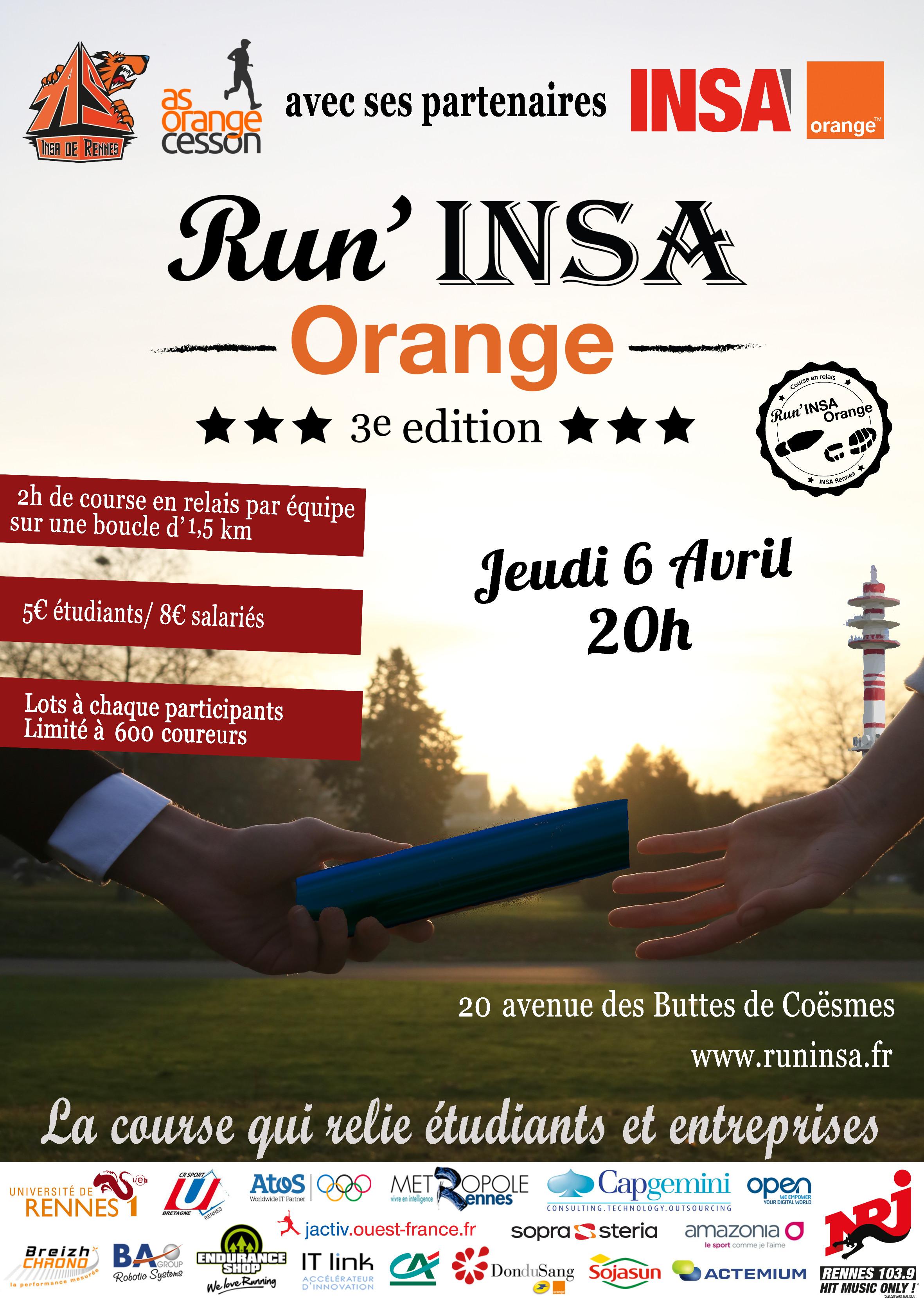 Affiche Run INSA 2017